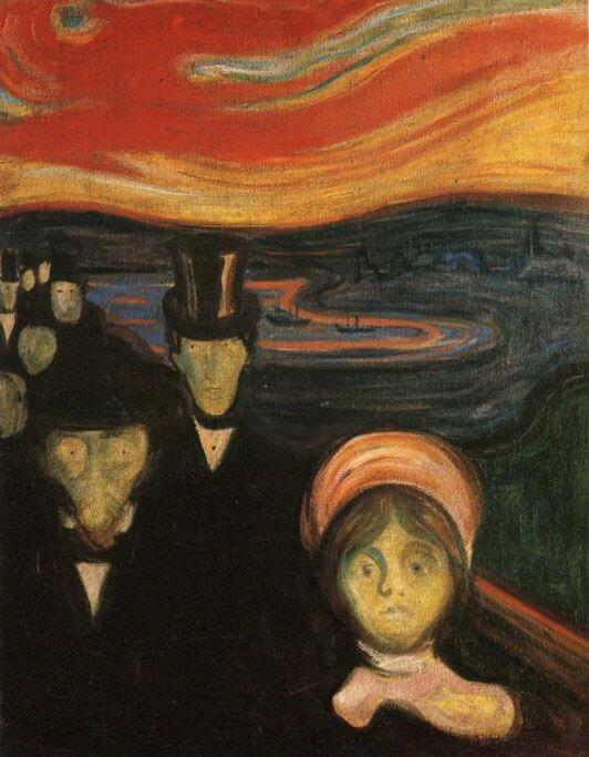 Anxiety, 1894 by Edvard Munch