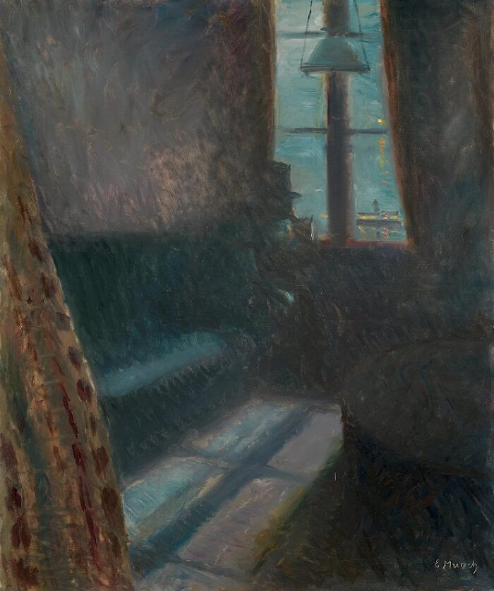 Night in Saint Cloud, 1890 by Edvard Munch