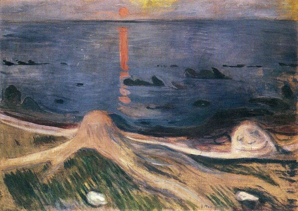 The Mystery of a Summer Night, 1892 by Edvard Munch