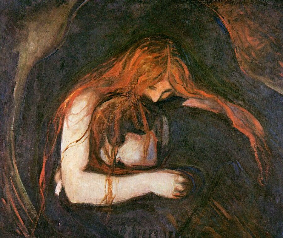Vampire, 1893 by Edvard Munch